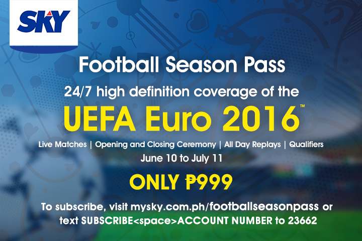 Euro 2016 action exclusively on SKY Football Season Pass HD