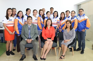 Standing, l-r: Anj Avila (Marketing), Chie Yu (Digital), Jennifer Acierto (HR), Lana Tajora (Finance), Clarissa Gempesaw (LOB), Jane Chua (Programming), Do Gaerlan (Sales), Melanie Solano (IT), Lito Mapolon (Networks Engineering head), Suzette Rivera (Process Management), Jen Velasco (Executive Office), Ricky Semilla (RPD), Larry Ortonio (Sales) and Allan Cagayan (IT). Seated, l-r: Ed Pahate (Sales head), Jaja Suarez (Pay TV head) and Leyo Namoc (Customer Service head)