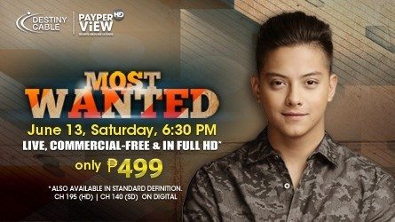 Daniel Padilla's Most Wanted Concert, Live on SKY Pay-Per-View!