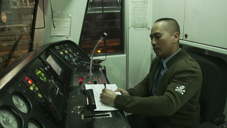 LRT Line 2 driver Carlos Valdez goes to work as early as 2 a.m. to conduct rigorous safety tests on the trains