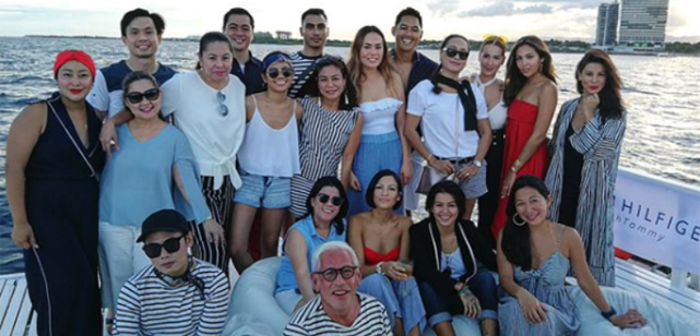 The team enjoys the 'Summer Soul' sunset cruise