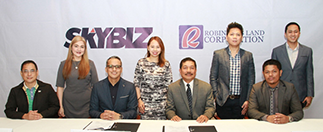 Seated, l-r: SKYBIZ Regional Sales head Larry Ortonio, SKYBIZ MDU Sales head Eduardo Garrovillas, RLC VP Engr. Emmanuel Arce and RLC associate director Anatolio Enderez; Standing, l-r: SKYBIZ key accounts manager for Pasig, Marikina and Cainta Mary Ann Jingco, SKYBIZ key accounts manager for QC Jenica Nastor, RLC associate marketing director Mark Stephen Delumen and RLC associate director John Thomas Garcia