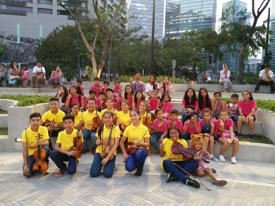 Students were invited by Ang Misyon Inc. to watch the Orchestra of the Filipino Youth's performance at Bonifacio Global City