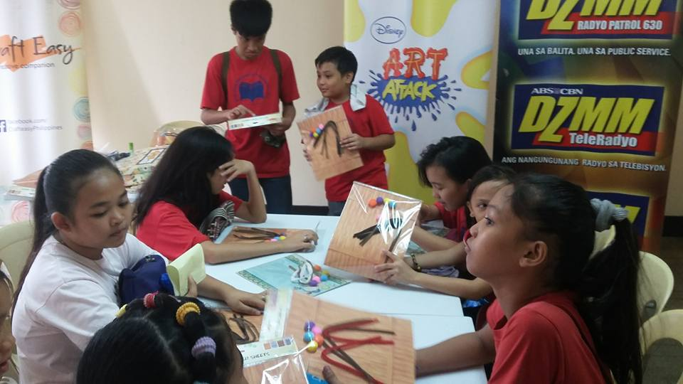 ABS-CBN Lingkod Kapamilya Foundation Inc. provides an art workshop for the children