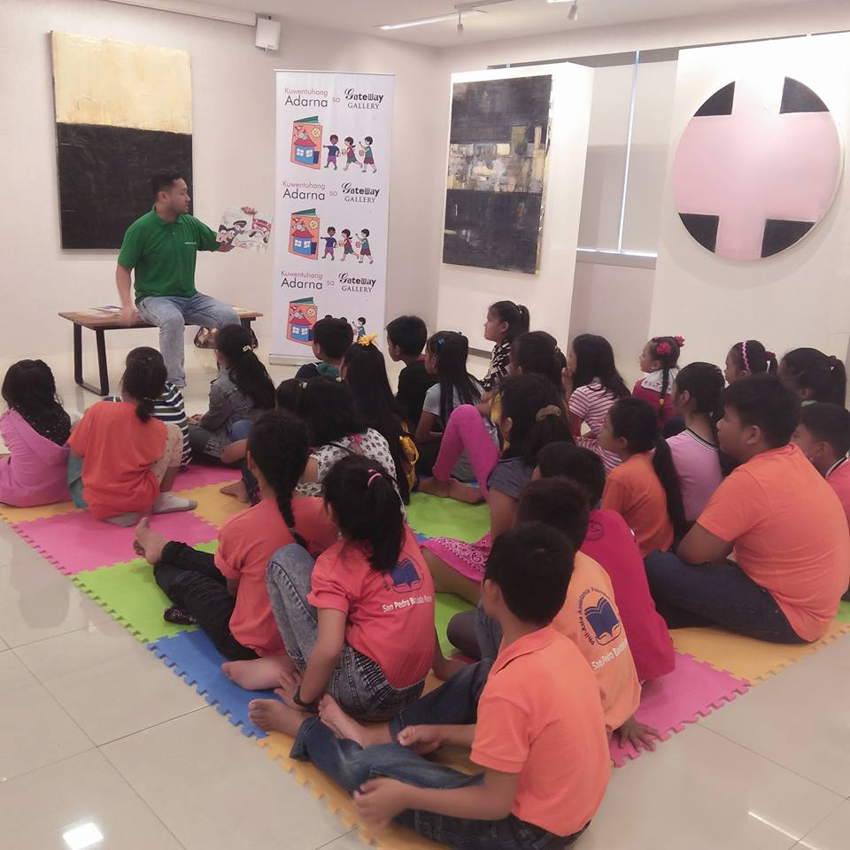 Grade school beneficiaries join Gateway Gallery's storytelling activity