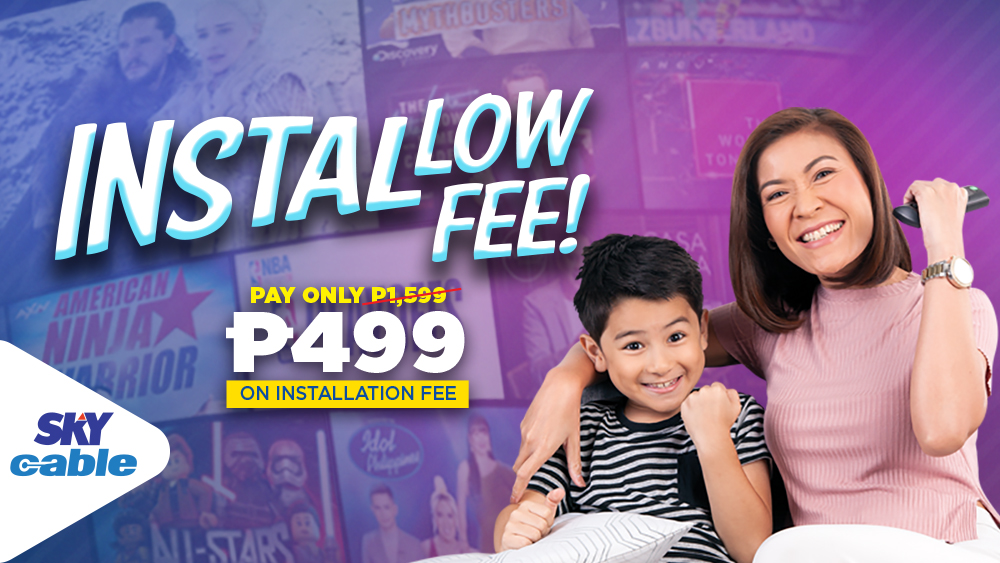 Skycable Installow Fee!