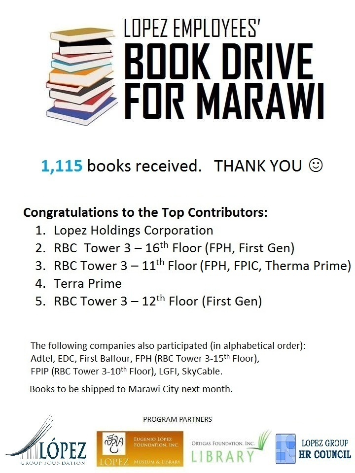 Lopez Employees' Book Drive for Marawi
