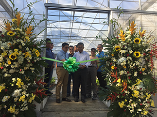 Lopez Inc. SEVP Benjamin R. Lopez and DENR Usec. Gen. Rodolfo Garcia are joined at the ribbon-cutting ceremony by DENR regional director Sophio Quintana; FPRC president Oscar R. Lopez Jr.; forester Eleazar Alaira, PENRO-Rizal