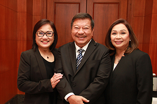 Star Cinema managing director Olive Lamasan, ABSCBN board member and former president Freddie Garcia and ABS-CBN chief operating officer of broadcast Cory Vidanes at the annual stockholders meeting