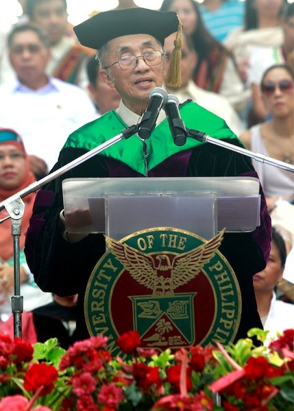 April 22, 2012 speech of Oscar M. Lopez at the University of Philippines commencement exercise