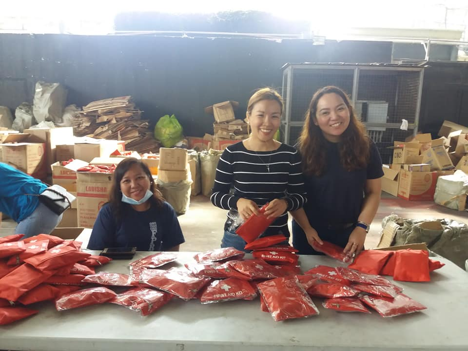 WTT participants join 'ligtas' bags packing activity