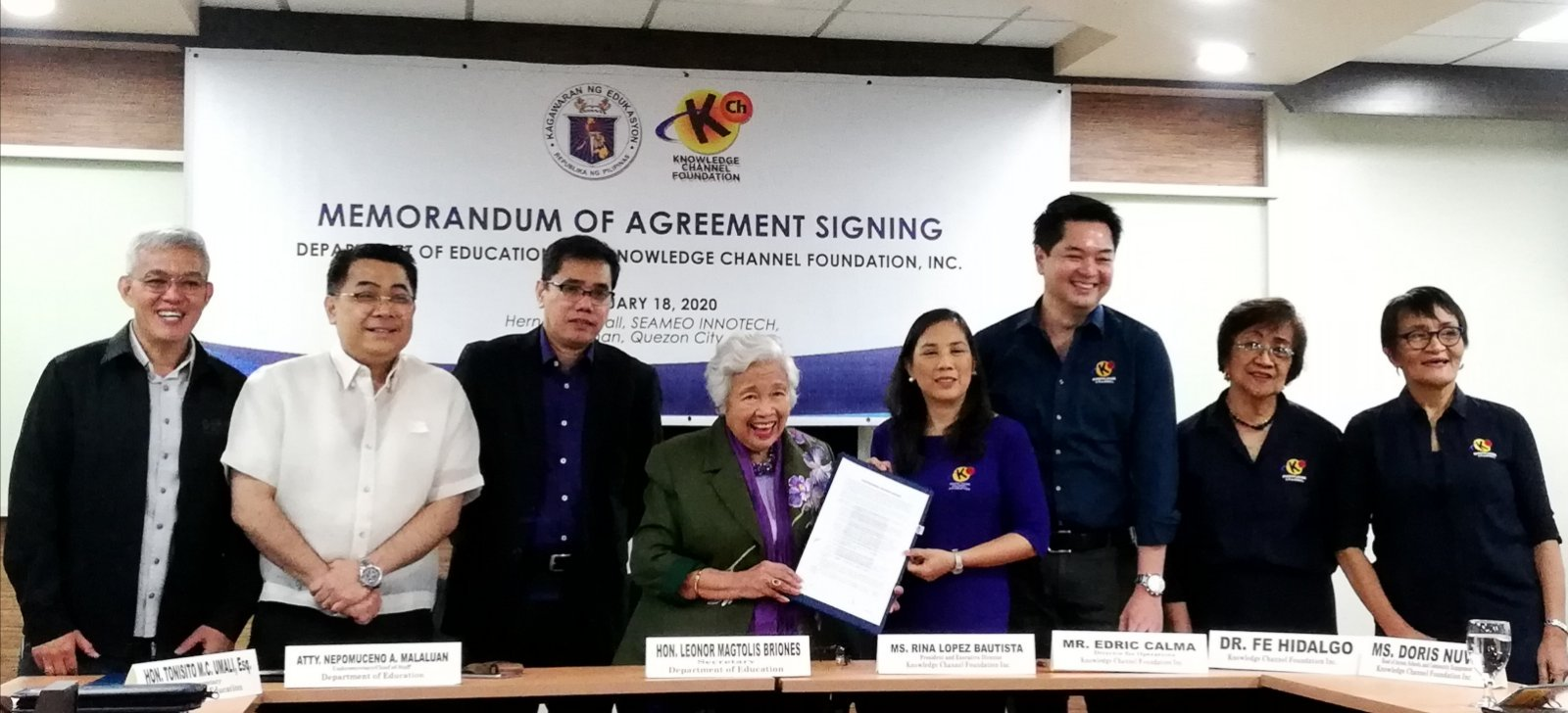 KCFI, DepEd renew partnership