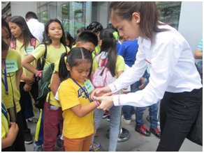 Scholars ready for a KidZania Manila treat