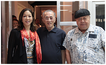 L-R: Museum executive director Cedie Lopez Vargas, Lopez Group chairman emeritus Oscar M. Lopez and National Artist for Literature F. Sionil Jose