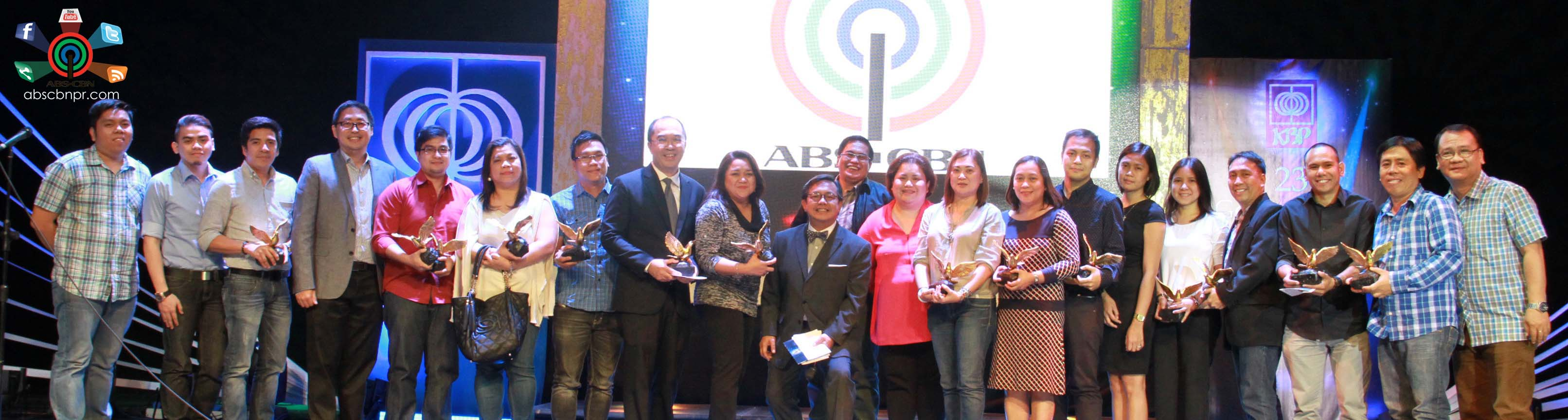 ABS-CBN wins the Best TV Station at the 23rd Golden Dove Awards