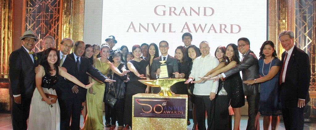 "ABS-CBN won the Grand Anvil Award for its ""Tulong Na, Tabang Na, Tayo Na""campaign at the 50th Anvil Awards"