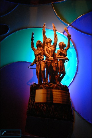 The LAA Trophies designed by National Artist, Mr. Napoleon Abueva