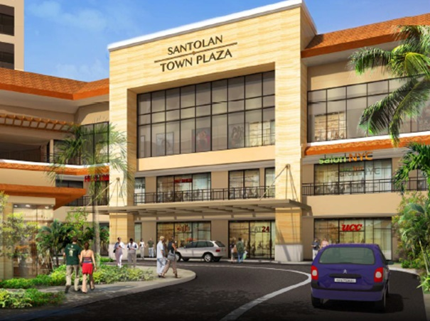 Rendering of the Santolan Town Plaza retail drop-off