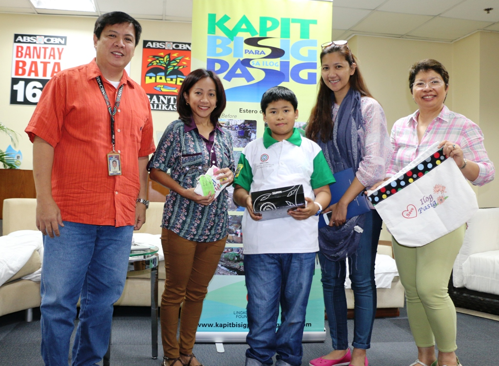 KBPIP's young ambassador in Pasig River cleanup donates anew