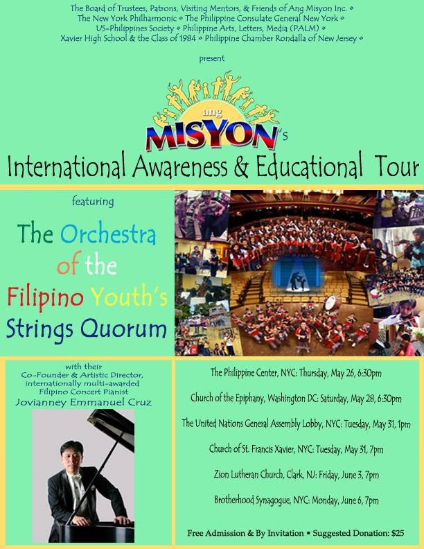 Ang Misyon: International Awareness & Educational Tour