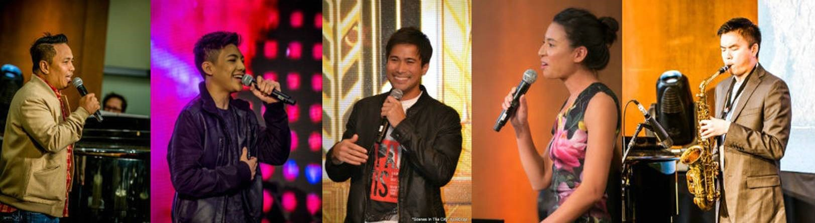 Performers Eric Nicolas, Darren Espanto, Sam Milby, Melissa Morgan and Michael Cody Dear