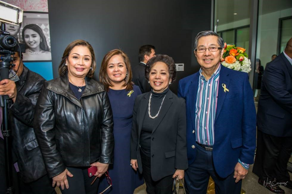 At the TFC Store blessing are (r-l) Ambassador Manuel M. Lopez, Maritess Lopez, ABS-CBN head of Integrated News and Current Affairs Ging Reyes and ABS-CBN COO-Broadcast Cory Vidanes