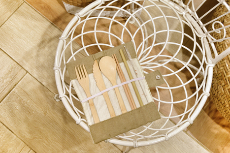 Bamboo cutlery set, Funk Trunk, P499. Available at Common Thread, R2 Level