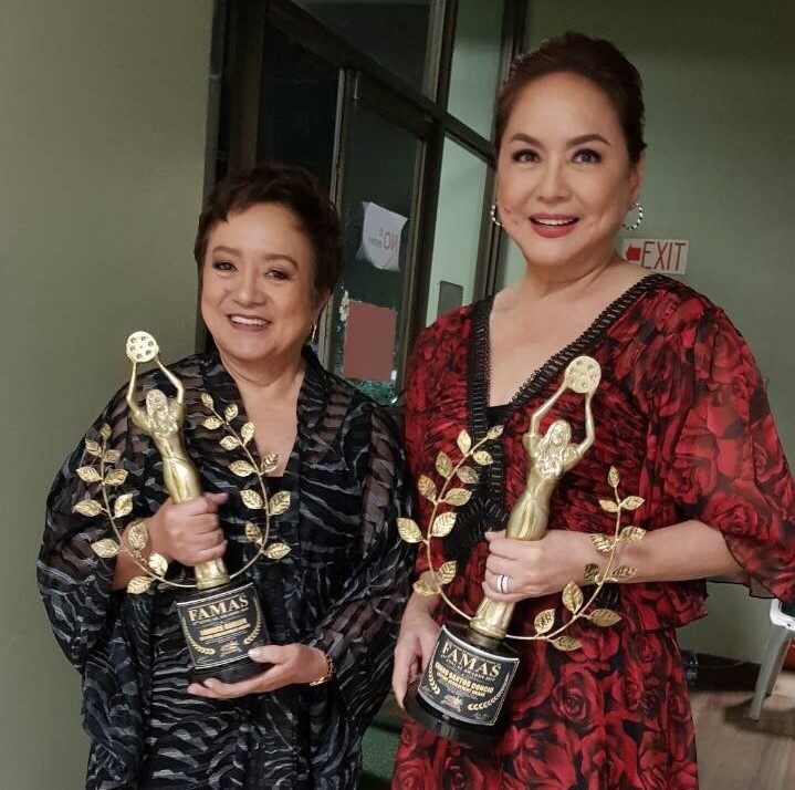 Charo Santos-Concio with fellow lifetime achievement awardee Laurice Guillen
