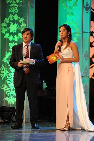 FPRC president Cary Lopez hosted the event with TV host/athlete Gretchen Ho