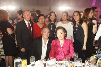 Seated: Rogy Panganiban and PLP, Standing: Oscar M. Lopez, Connie Lopez, Cedie Vargas, Rina Lopez Bautista and Pia Abello