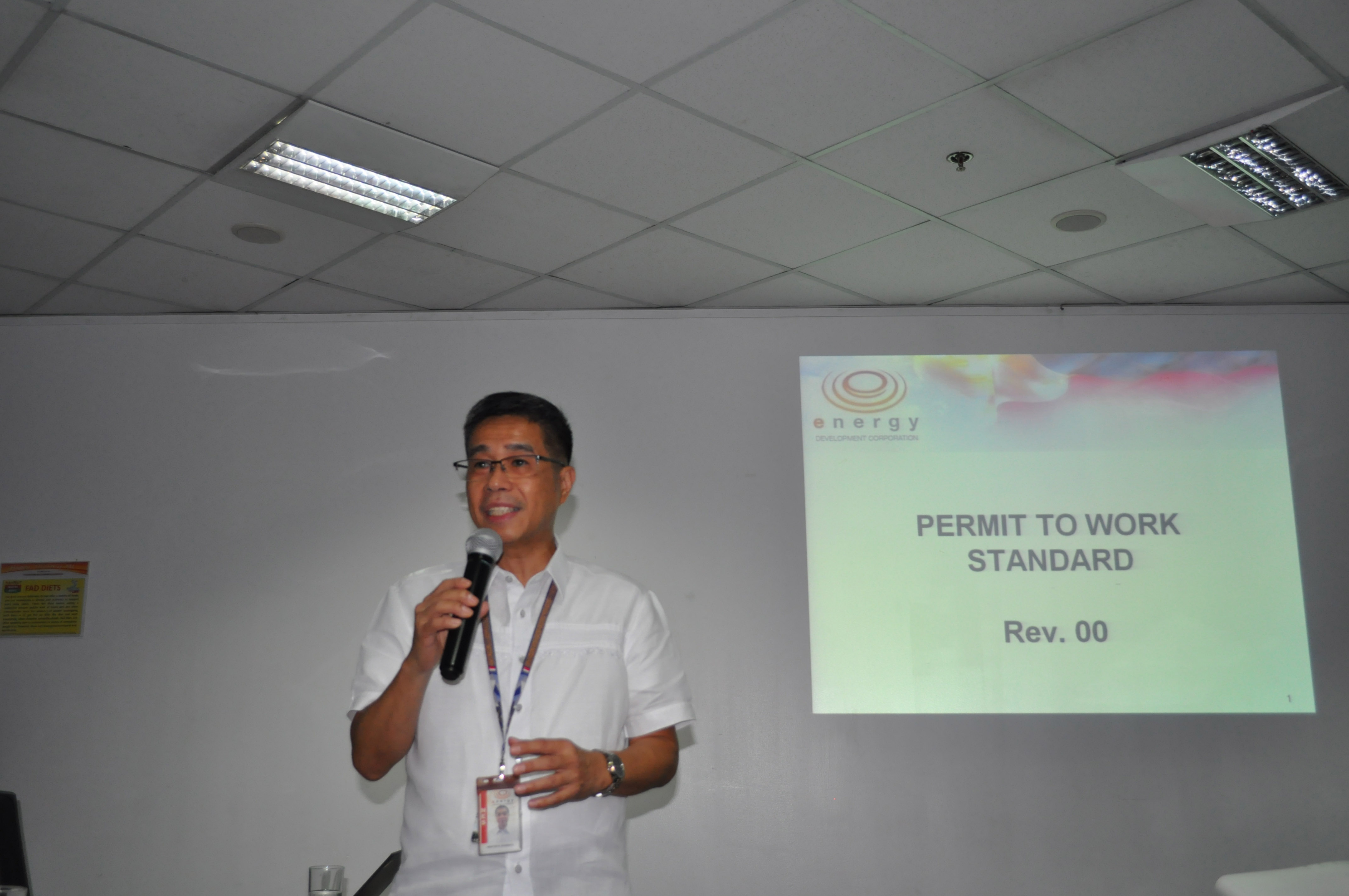 Nestor Evaristo, EDC Safety Performance and Operations head