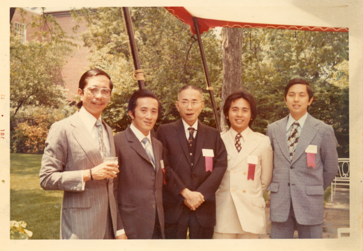 The brothers with Don Eñing at Harvard University in June 1972