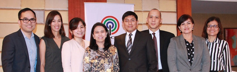 L-R: Aldrin Cerrado - Chief Financial Officer; Catherine Uy - Head, Finance Operations, Access/Chief Financial Officer, ABS-CBNmobile; Connie Banaag, Treasury Officer, ABS-CBN; Eloisa Balmoris - Chief Financial Officer, SkyCable; Rolando Valdueza - Head, Corporate Services Group 2/ Group Chief Financial Officer; Ricardo Tan - Head, Corporate Treasury; Loraine Atienza - Head, Controllership; Beverly Fernandez, Chief Financial Officer, Star Cinema