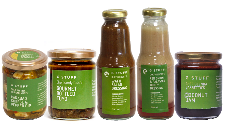 G-Stuff bottled gift ideas from Manila's top Chefs