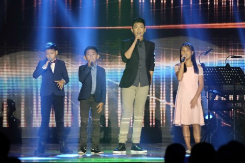 "Darren Espanto and the Top 3 ""The Voice Kids"" Season 3 winners"