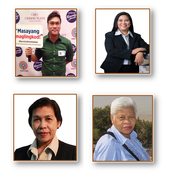 The four Unsung Hero Awardees