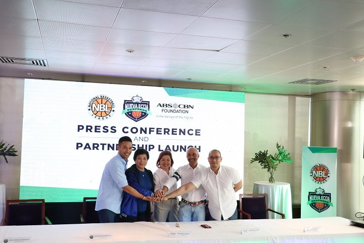 From right: ALKFI chief marketing officer Paul Vincent Mercado, ALKFIBantay Bata 163 executive director Ernie L. Lopez, ALKFI managing director Susan Afan, Nueva Ecija Bespren team owners Rhodora Morales and Renan Morales