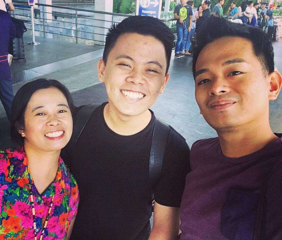 With his elder sister and brother, a creative manager at Star Creatives