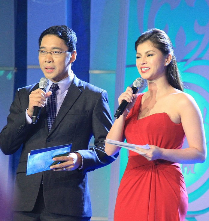 Presenters Anthony Taberna and Angel Locsin