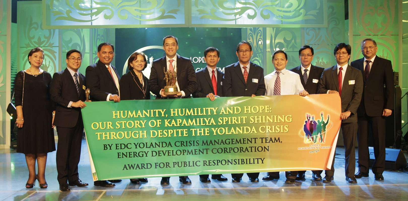 "EDC's 'Humanity, Humility and Hope: Our Story of Kapamilya Spirit Shining Through Despite the Yolanda Crisis"" (Public Responsibility)"