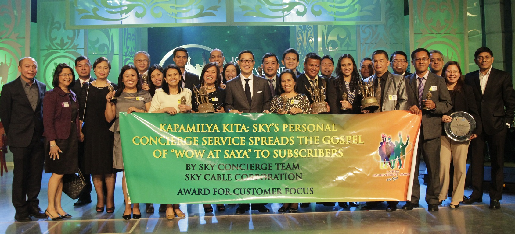 "ABS-CBN's ""Kapamilya Kita: SKY's Personal Concierge Service Spreads the Gospel of ""WOW at Saya"" to Subscribers"" (Customer Focus)"