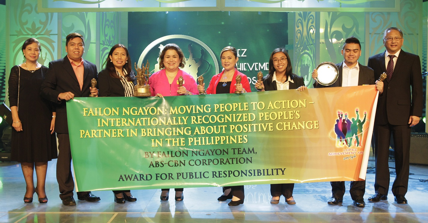 "ABS-CBN, ""Failon Ngayon"": Moving People to Action—Internationally Recognized People's Partner in Bringing about Positive Change in the Philippines (Public Responsibility)"