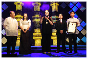Charo Santos- Concio honored by QC government