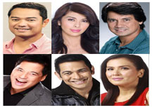 'ASAP' main hosts Ariel Rivera, Pops Fernandez, Martin Nievera, Gary Valenciano, ZsaZsa Padilla and Richard Gomez