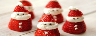 Make your own Santa, candy cane treats