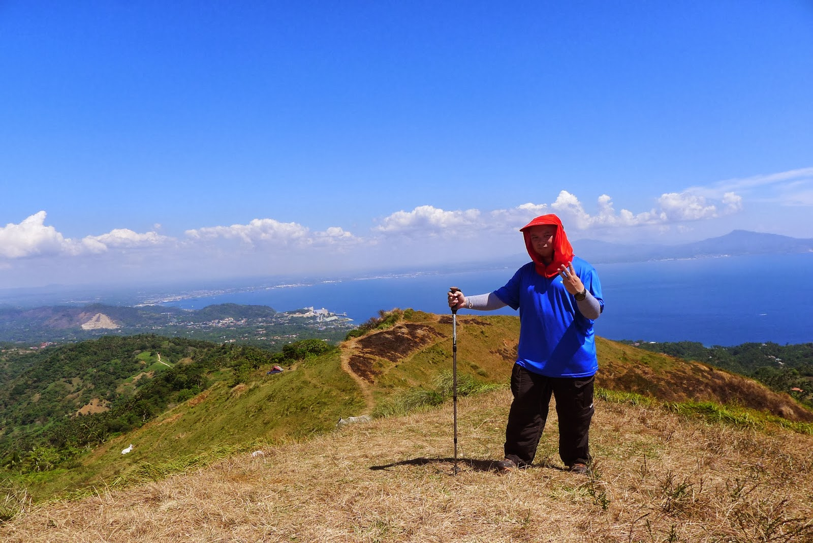 At the summit of Pinagbanderahan, Gulugod Baboy's highest peak