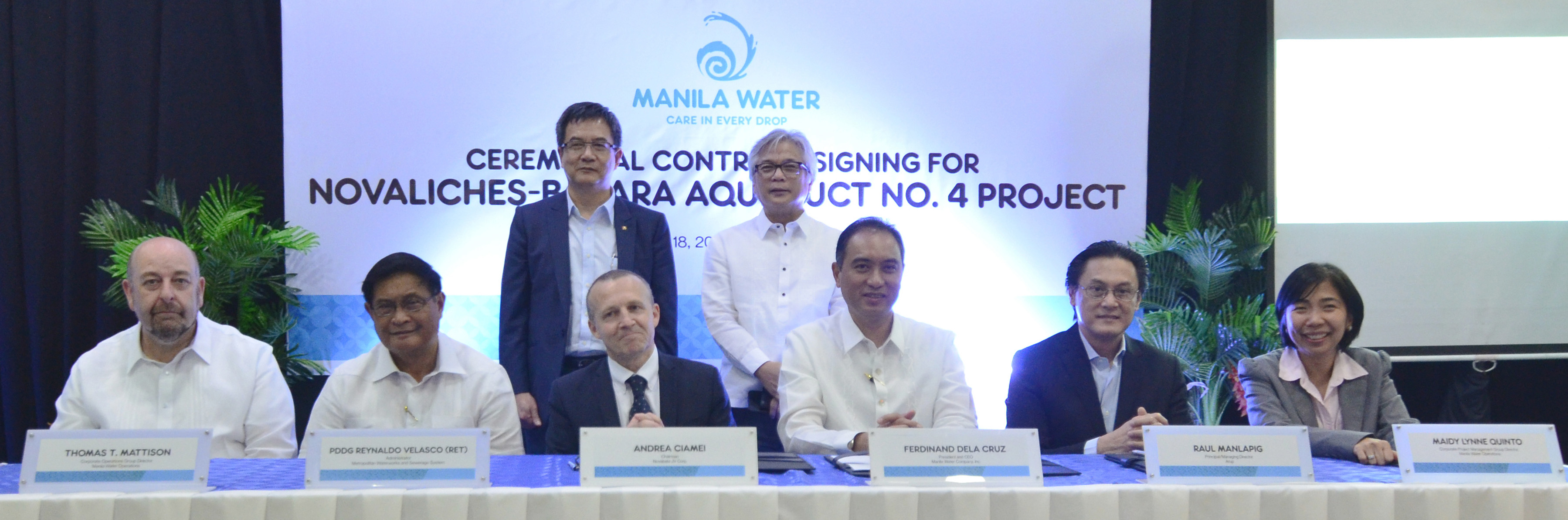First Balfour, Manila Water sign P5.3-B aqueduct project
