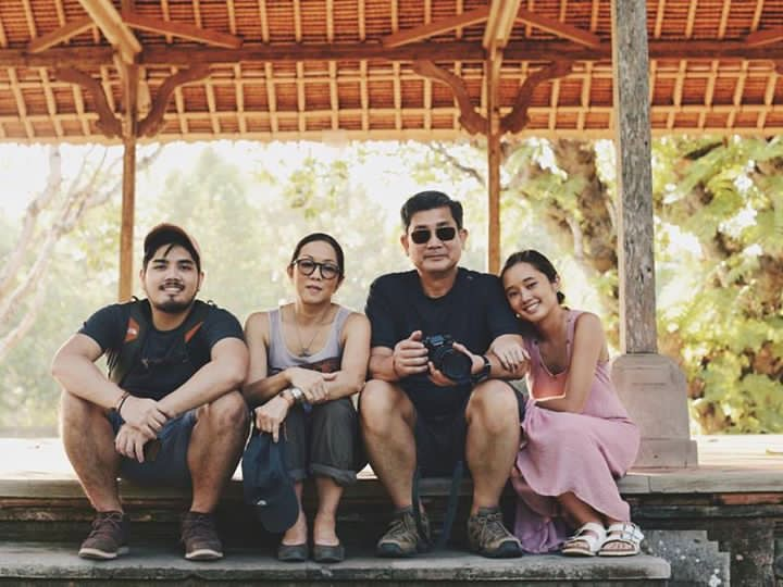 Marco during a vacation trip with his parents Vicente and Cedie and sister Manna
