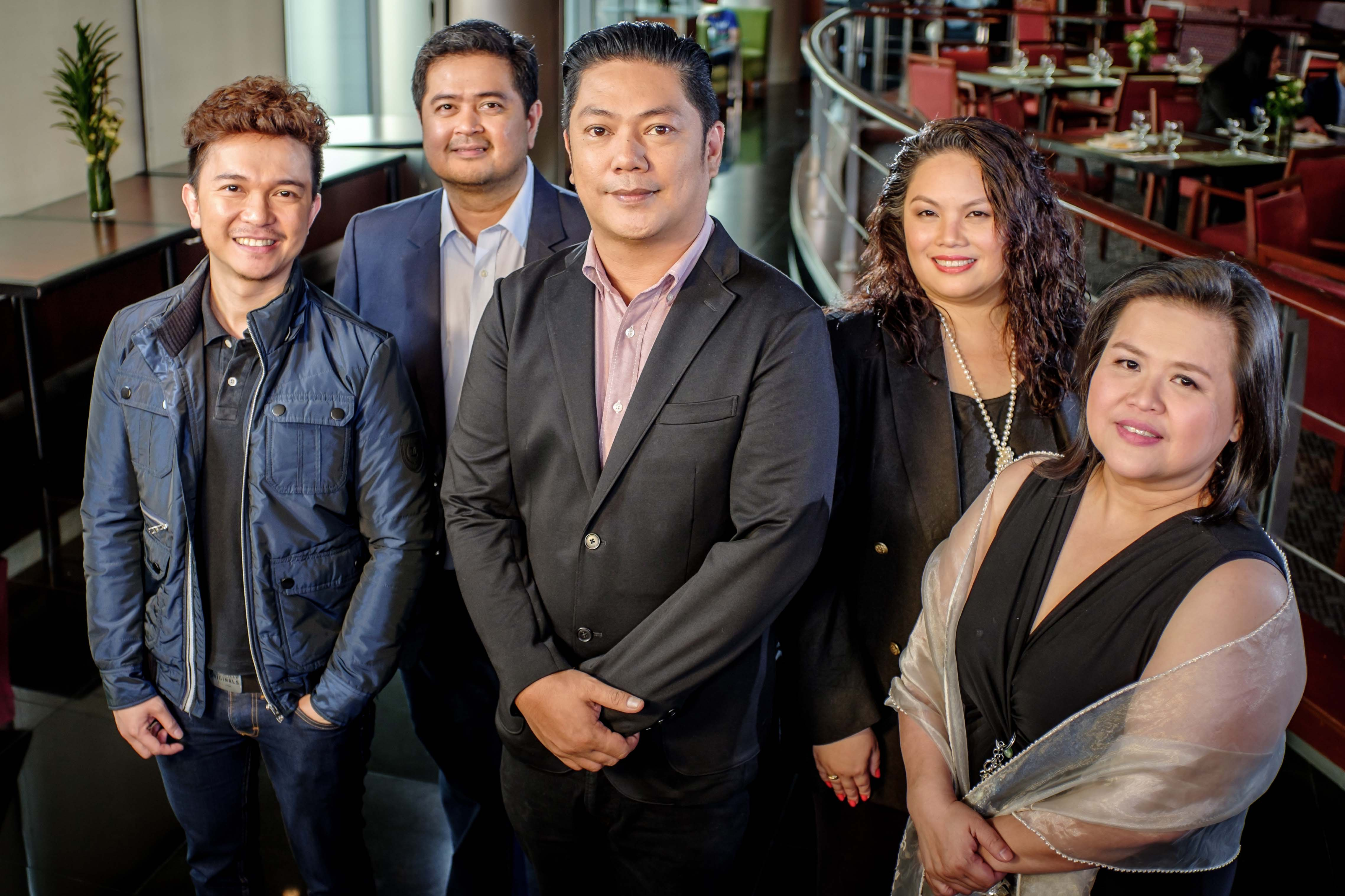 Star Music head Roxy Liquigan (center) with Jonathan Manalo, Mars Ocampo, Thellie Palanisamy and Marivic Benedicto