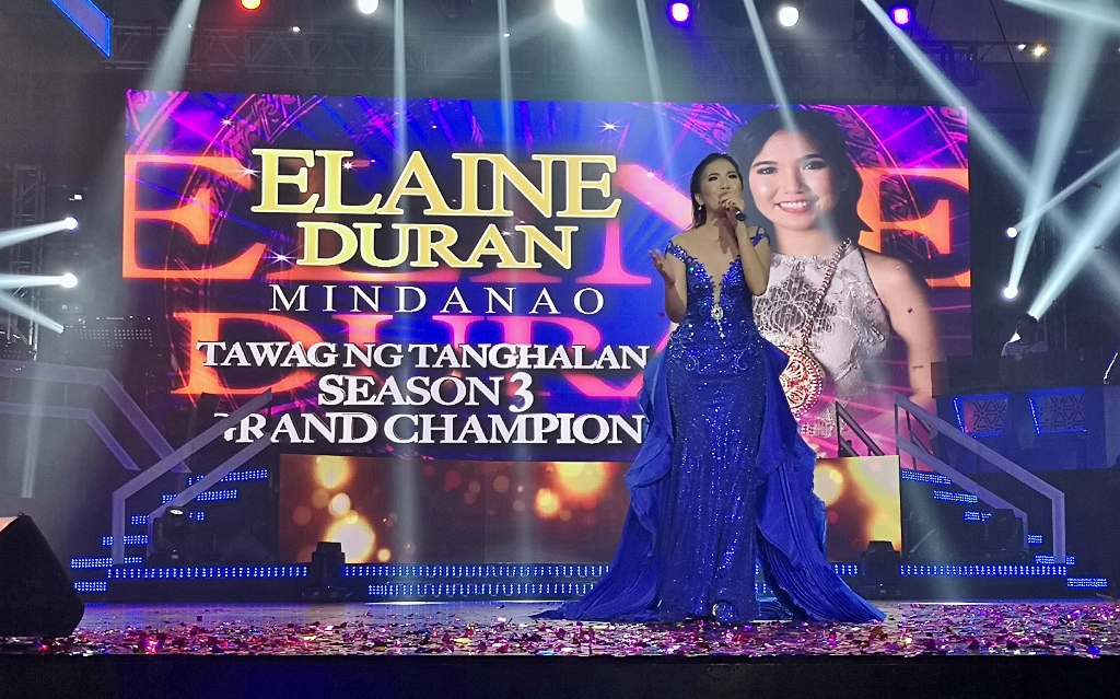 Elaine Duran emerges as 'TNT' champ